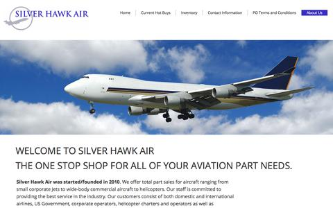 Screenshot of About Page silverhawkair.us - About Us - captured Nov. 4, 2017