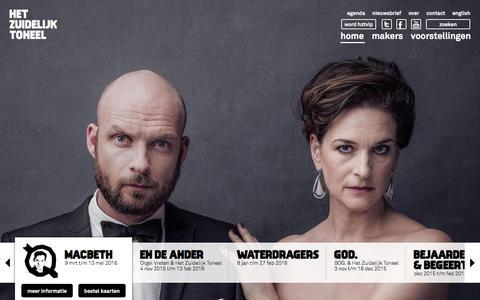 Screenshot of Home Page hzt.nl - HZT | Het Zuidelijk Toneel - captured Jan. 29, 2016