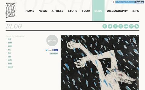 Screenshot of Blog tumblr.com - Topshelf Records - captured Sept. 11, 2014