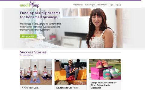 Screenshot of Login Page moola-hoop.com - MoolaHoop - captured Sept. 16, 2014