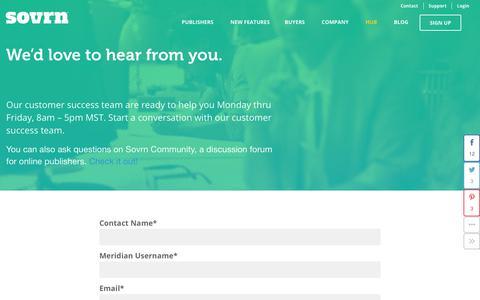 Screenshot of Support Page sovrn.com - Support - sovrn - captured Feb. 8, 2017