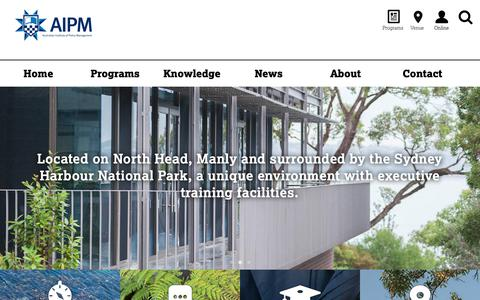 Screenshot of Home Page aipm.gov.au - Australian Institute of Police Management | - captured Oct. 4, 2018