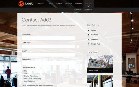 Contact Add3 - Add3