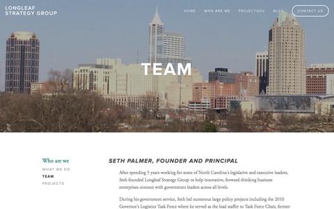 Screenshot of Team Page longleafstrategygroup.com - Team — Longleaf Strategy Group - captured Oct. 28, 2014