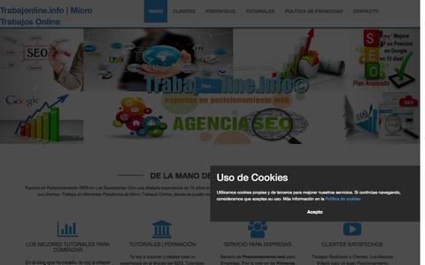 Screenshot of Home Page trabajonline.info - TrabajOnline.Info   Posicionamiento web en buscadores SEO - captured June 17, 2015