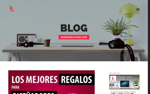 Screenshot of Home Page erickragas.com - Erick Ragas - Diseñador Editorial Digital - captured Jan. 30, 2016