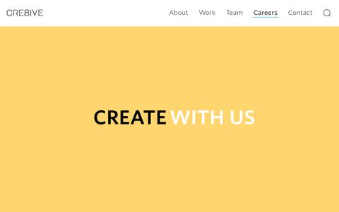 Screenshot of Jobs Page cre8ive.com.au - Careers – CRE8IVE - captured May 13, 2017