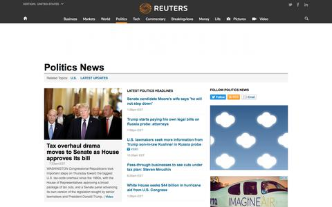 Politics & Political News | Reuters
