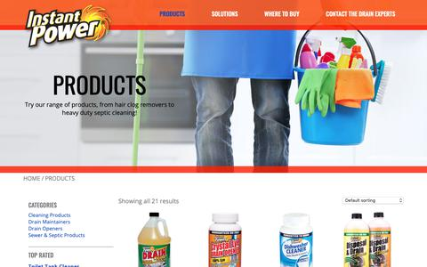 Screenshot of Products Page scotchcorp.com - Products | Instant Power - captured Oct. 2, 2018