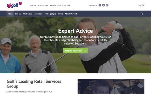 Screenshot of Home Page tgigolf.com - TGI Golf - captured Dec. 19, 2016