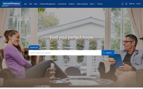Screenshot of Home Page barfoot.co.nz - Houses for Sale and Rent | Barfoot & Thompson - captured July 16, 2018