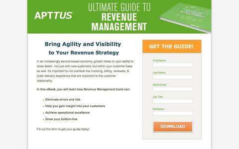 Screenshot of Landing Page apttus.com - The Ultimate Guide to Contract Management - captured Nov. 3, 2016
