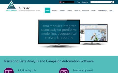 Screenshot of Home Page apteco.com - Marketing Data Analysis Software | Apteco - captured March 5, 2017