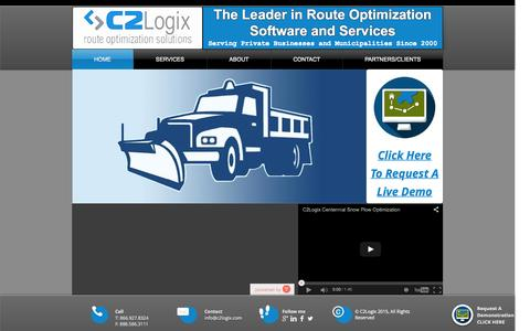 Screenshot of Home Page c2logix.com - C2Logix Route Optimization Solutions - captured July 17, 2015