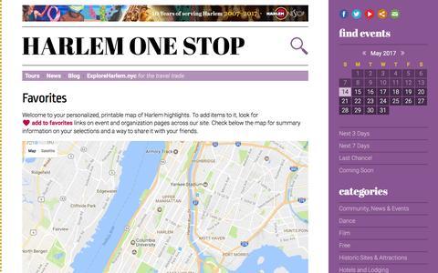 Screenshot of Maps & Directions Page harlemonestop.com - Favorites – Harlem One Stop - captured May 15, 2017