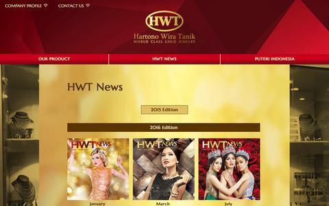 Screenshot of Press Page hwtgold.com - Hartono Wira Tanik - World Class Gold Jewelry - captured Oct. 27, 2016