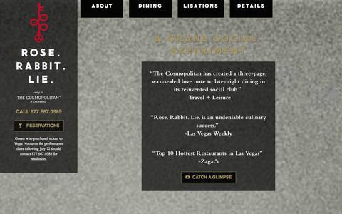 Screenshot of Home Page roserabbitlie.com - ROSE. RABBIT. LIE. - captured Sept. 22, 2014