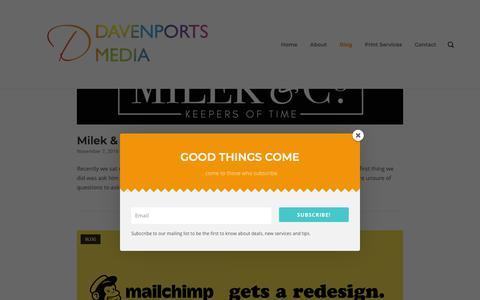 Screenshot of Blog davenportsmedia.co.uk - Work - Davenports Media - captured Nov. 11, 2018