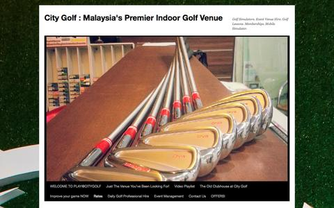 Screenshot of Pricing Page citygolf.com.my - Rates | City Golf : Malaysia's Premier Indoor Golf Venue - captured May 17, 2017