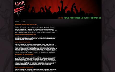 Screenshot of Terms Page linkusa-inc.com - Link USA > Home - captured Oct. 2, 2014