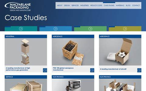Screenshot of Case Studies Page macfarlanemanufacturing.com - Case Studies - Macfarlane Manufacturing - captured Oct. 3, 2017