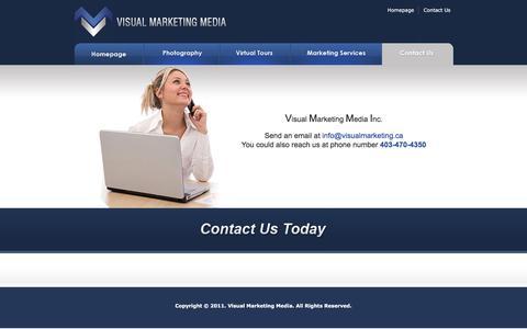 Screenshot of Contact Page visualmarketing.ca - .:: Visual Marketing Media ::. - captured Feb. 15, 2016