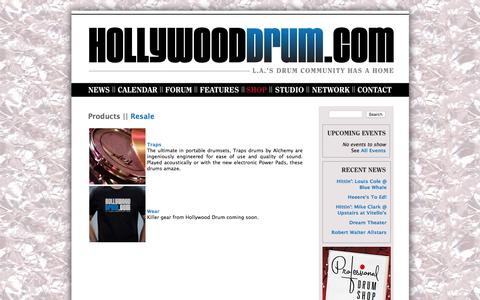 Screenshot of Products Page hollywooddrum.com - HollywoodDrum.com || Los Angeles Drum Community » Products - captured June 6, 2016