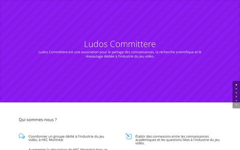 Screenshot of Home Page ludos.ca captured Sept. 17, 2015