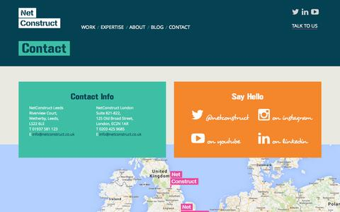 Screenshot of Contact Page netconstruct.co.uk - NetConstruct - Contact us | Your Full Digital Agency - captured Sept. 25, 2014