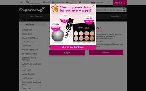 Screenshot of Login Page superdrug.com - Superdrug - captured Sept. 21, 2018