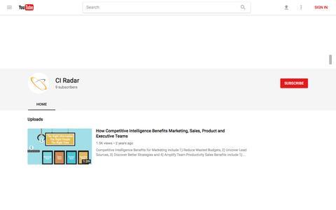 CI Radar - YouTube