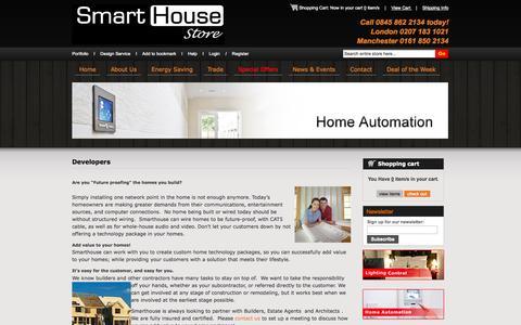 Screenshot of Developers Page smarthousestore.co.uk - Developers - captured Oct. 9, 2014