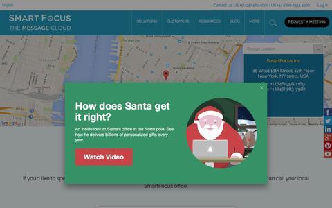 Screenshot of Contact Page smartfocus.com - Get in Touch | SmartFocus - captured Nov. 30, 2015