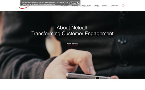 Screenshot of About Page netcall.com - About Netcall - captured Oct. 20, 2017