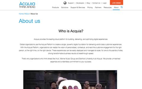 About us | Acquia