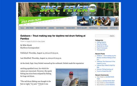 Screenshot of Blog specfever.com - Spec Fever Guide Service - captured Oct. 7, 2014