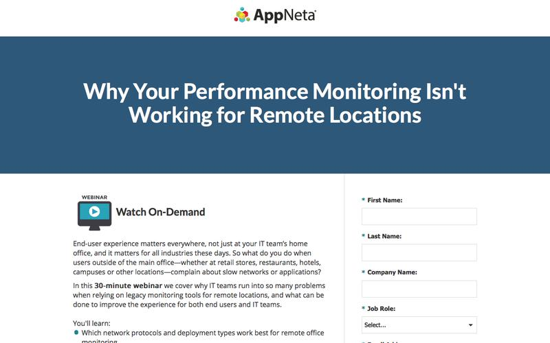 End-User Performance Monitoring for Remote Locations