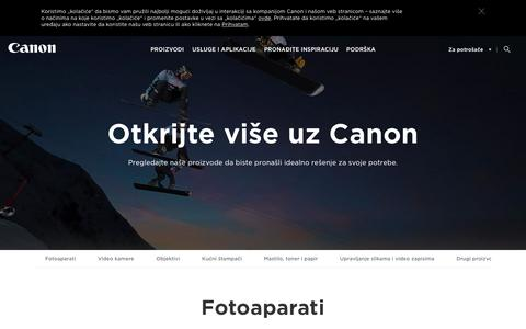Screenshot of Products Page canon.rs - Kućni proizvodi - Canon Srbija - captured July 14, 2017