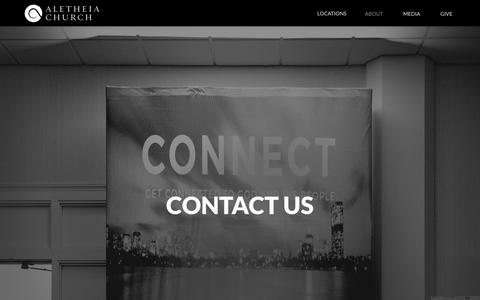 Screenshot of Contact Page aletheia.org - Contact Us   Aletheia Church - captured Oct. 8, 2017