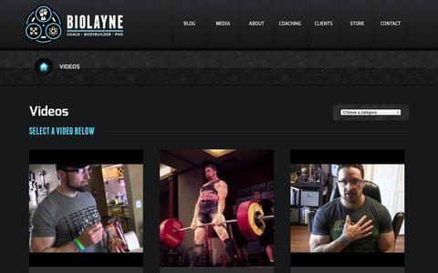Screenshot of Press Page biolayne.com - Videos | Biolayne - captured Sept. 24, 2014
