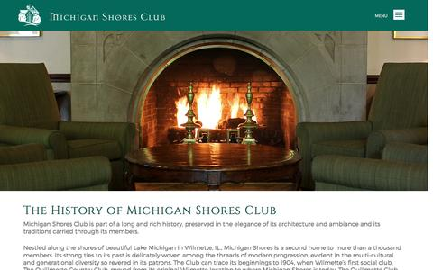 Screenshot of About Page michiganshores.org - About | Michigan Shores Club - Michigan Shores Club - captured March 13, 2017