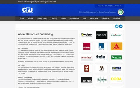 Screenshot of About Page contractflooringjournal.co.uk - About Kick-Start Publishing - captured Feb. 12, 2016
