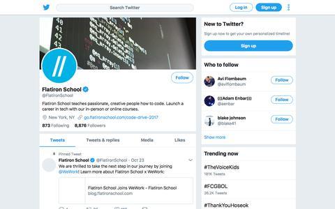 Tweets by Flatiron School (@FlatironSchool) – Twitter