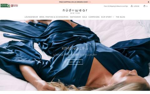 Screenshot of Home Page nudwear.com - Nudwear Sustainable Lingerie & Loungewear. Best Backless Bra Solutions - captured Sept. 21, 2018