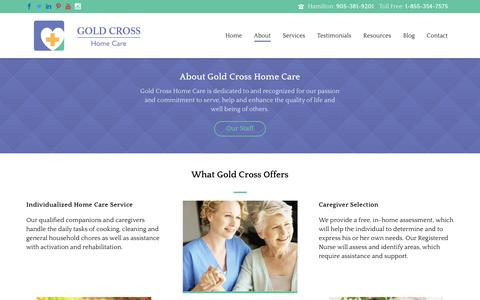 Screenshot of About Page goldcrosshomecare.com - About Gold Cross Home Care - captured Aug. 24, 2017