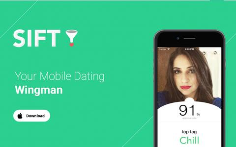 Screenshot of About Page siftapp.me - Sift - Mobile Dating Wingman - captured Nov. 20, 2015