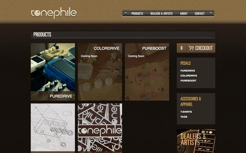 Screenshot of Products Page tonephile.com - Tonephile | Products - captured Oct. 6, 2014