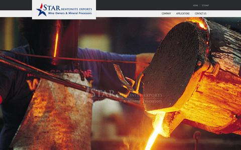 Screenshot of Home Page starbentoniteexports.com - Welcome to Star Bentonite Exports - captured Sept. 30, 2014