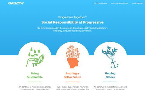 Social Responsibility at Progressive Insurance