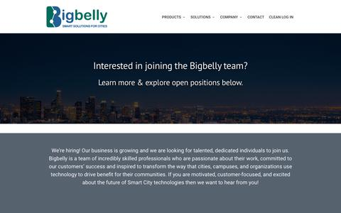 Screenshot of Jobs Page bigbelly.com - Careers at Bigbelly, Inc. - Smart Solutions for Cities - captured Nov. 6, 2018